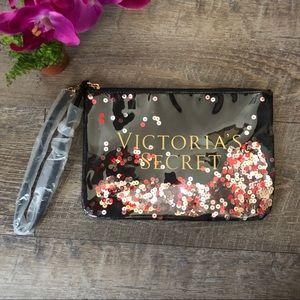 NWOT Victoria's Secret Wristlet Makeup Bag